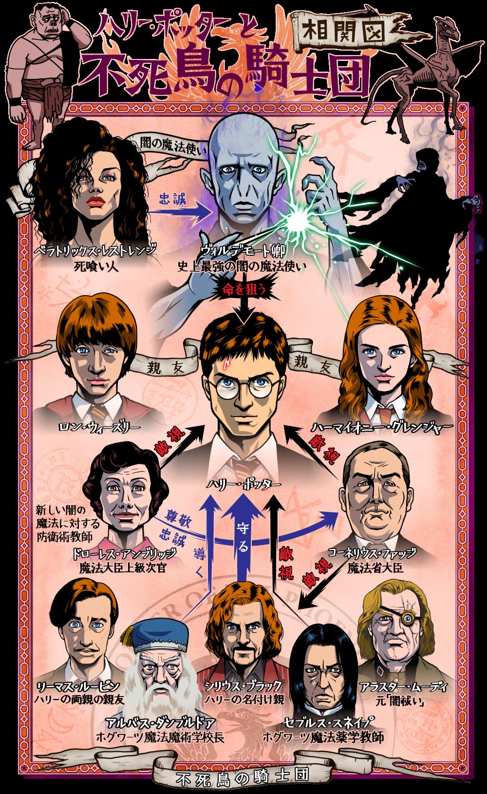ハリー・ポッターと不死鳥の騎士団の人物相関図